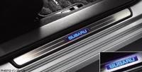 Накладки на пороги с подсветкой для Subaru Forester 2012+