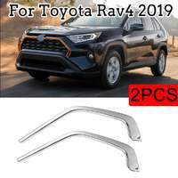 Хром накладки вокруг решетки для Toyota Rav4 2019+