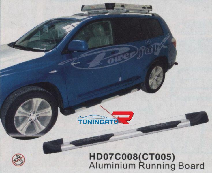 Подножки боковые HD07C008 (CT005) TOYOTA HIGHLANDER (07 -)