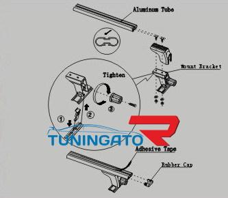 Релинги поперечные для TOYOTA SURF / 4RUNNER (95-01)