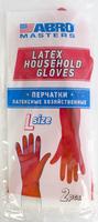 Перчатки латексные хозяйственные (Размер L)