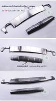 Защитные накладки на бампера для Mercedes GLK300 \350 \260 (2008-)