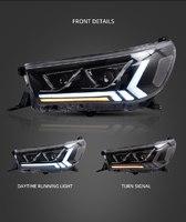 Фары диодные для Toyota Hilux Revo 2015г+