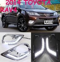 Ходовые огни в рамке туманок для Toyota RAV4 2013-16г.
