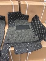 Коврики в салон экокожа 3D в строчку для Toyota Fortuner 2015+