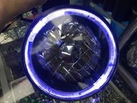 Фары темные линзовые с диодной подсветкой MMC Pajero 87-95г.