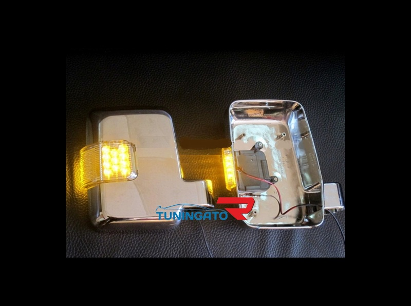 Корпуса зеркал с поворотником хром для PRADO 78