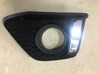 Оконтовки туманок в бампер для Honda Fit 2013+