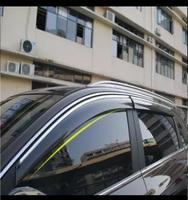 Ветровики на двери оригинал с хромом для Mazda CX-5 (2012-)