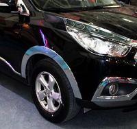 Хромированные накладки на крылья колесных арок на Hyundai ix35