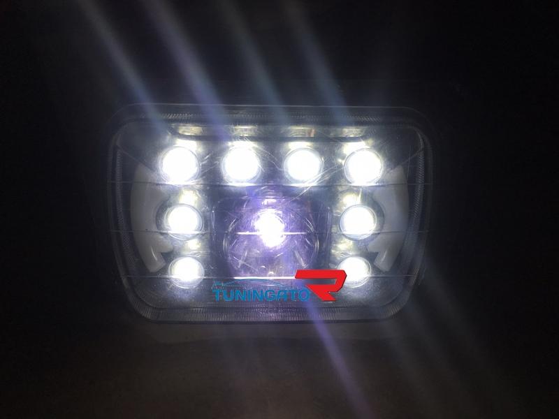 Фары диодные LED с линзой для Toyota Prado (89-96)