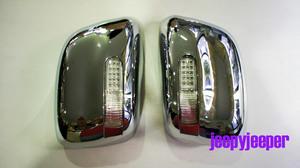Хромированные накладки на зеркала заднего вида Navara 2005-