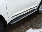 Пороги алюминиевые с пластиковой накладкой (карбон черные) 1720 мм код TOYLC20015-13BL