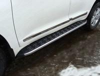 Пороги алюминиевые с пластиковой накладкой (карбон серебро) 1720 мм код TOYLC20015-13SL