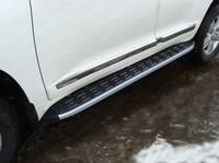 Пороги алюминиевые с пластиковой накладкой (карбон серые) 1720 мм кодTOYLC20015-13GR