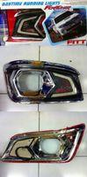 Ходовые огни в передний бампер с накладкой на штатные туманки для Toyota Hilux 2011+