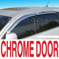 Ветровики на двери хромированные Корея для HYUNDAI SANTA FE 01-06