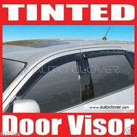 Ветровики на двери черные для SANTA FE 01-06