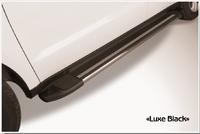 Пороги алюминиевые Luxe Black 1700 черные для Highlander 2014г