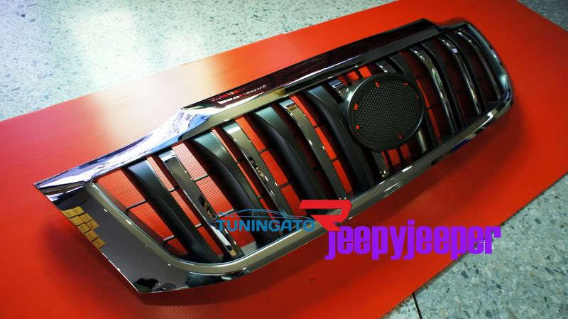 Решетка радиатора хром для Toyota Hilux \ Vigo 2012г.+