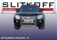 Кенгурятник низкий ф76 с защитой картера Mitsubishi Pajero IV Артикул: MPJ003