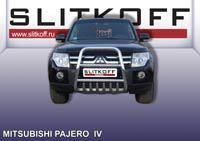 Кенгурятник высокий ф57 с защитой картера Mitsubishi Pajero IV Артикул: MPJ005
