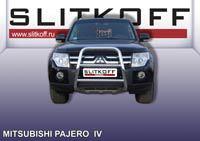 Кенгурятник высокий ф57 с защитой картера Mitsubishi Pajero IV Артикул: MPJ006