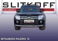 Защита переднего бампера ф76 Mitsubishi Pajero IV Артикул: MPJ010