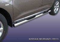 Подножки боковые с проступями ф76 NISSAN MURANO (2008-)