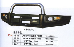 Бампер передний металлический NS-A050 LAND CRUISER PRADO 78