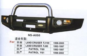 Бампер передний металлический HD07-NS-A050-1S LAND CRUISER 80 (90-97)