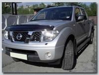 Дефлектор капота для Nissan Navara / Frontier / Pickup / NP300 темный