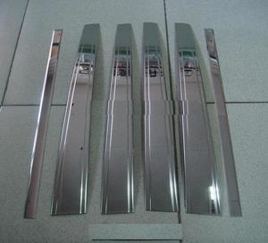 Хромированные накладки на дверные стойки PC-T17 LAND CRUISER 100