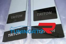 Хром накладки на дверные стойки для MMC L200\Triton 2007+