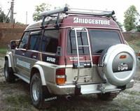 Колпак запасного колеса (хром пластик) NISSAN SAFARI / PATROL/ TERRANO (89-04)