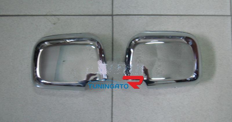 Хромированные накладки на зеркала TOYOTA HILUX SURF (96-02)