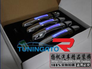 Хромированные ручки на двери с подсветкой Toyota Hilux 2005+