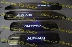 Хромированные накладки на пороги для ALPHARD / Wellfire ANH/GGH2#W