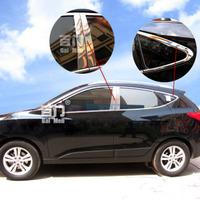 Хромированные накладки на дверные стойки для Hyundai ix35