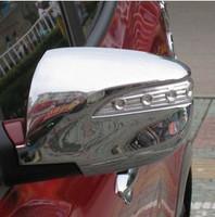Хромированные накладки с поворотниками на зеркала заднего вида ix35