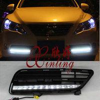 Ходовые огни LED в решотку переднего бампера, для Mark X 2010г.-