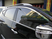 Хромированные накладки на дверные арки на Hyundai ix35