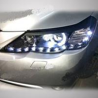 Тюнинговые фары (оптика) ангельские глазки, с LED подсветкой, эксклюзив Япония для Toyota Mark X 2010г.