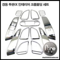 Хромированные накладки на детали в салон на Hyundai ix35