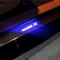 Накладки на пороги с подсветкой (неон) под двери, для Mark X 2010-