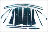 Комплект хромированных накладок на дверные стойки для MITSUBISHI OUTLANDER (2012-)