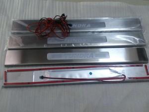 Накладки на пороги с подсветкой для Toyota Tundra 2007-