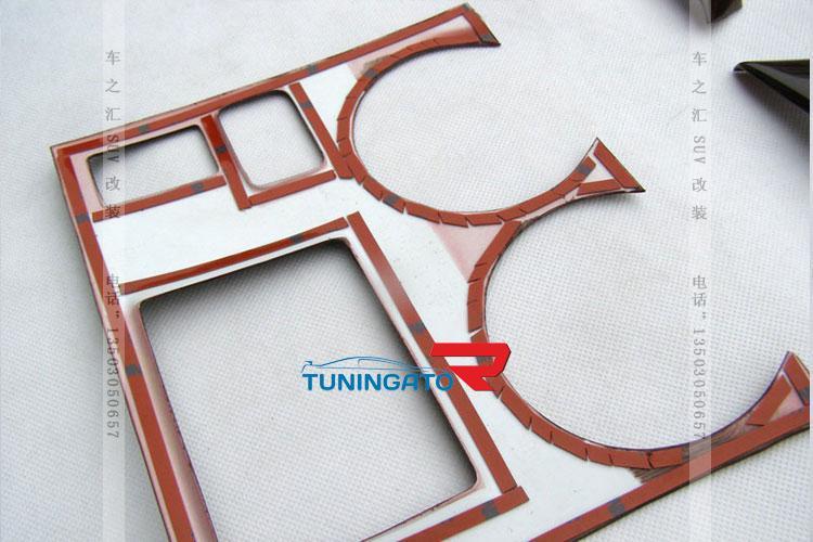 Декоративные накладки под дерево для Toyota Highlander 2007-
