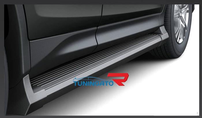 Подножки боковые черные RAV4-2013г