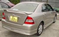 Накладка на задний бампер Fortuna, материал стеклопластик FRP, новый для Corolla 2001-2006